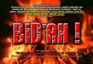 Tulisan pada gambar ini adalah pemahaman bid'ah menurut Wahhabi, benarkah pemahaman mereka?