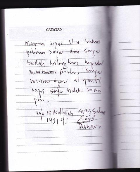 Klarifikasi Mahrus Ali atas Buku Mantan Kiai NU